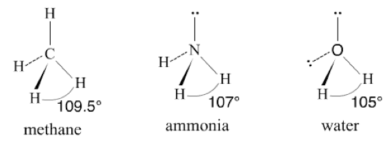 bond angle in h2o is larger than h2s
