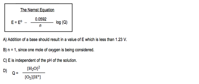 Answer: Consider this reaction  4 e – +     | Clutch Prep