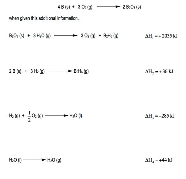 delta h products - reactants