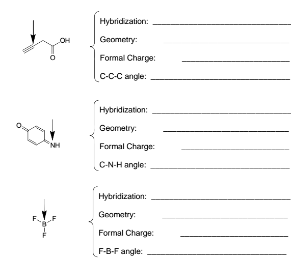 VSEPR Theory and Molecular Geometry Organic Chemistry – Vsepr Practice Worksheet
