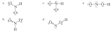 which of the following is a correct lewis structure f