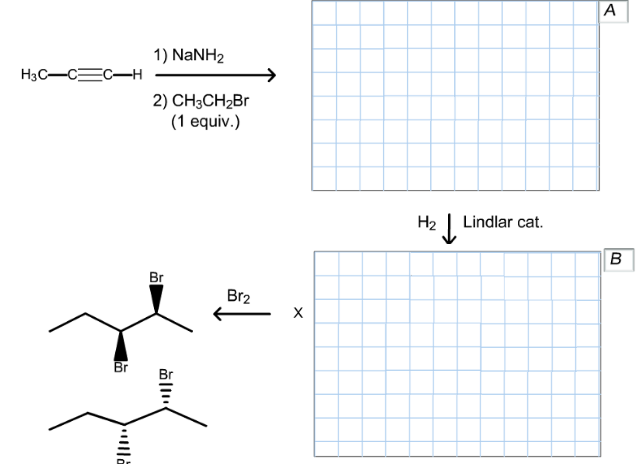 Draw the structures of organic compounds A      Clutch Prep