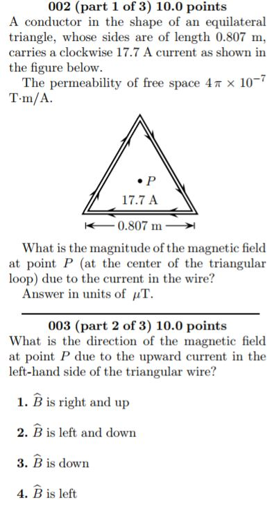 What is the direction of the magnetic field in an | Clutch Prep