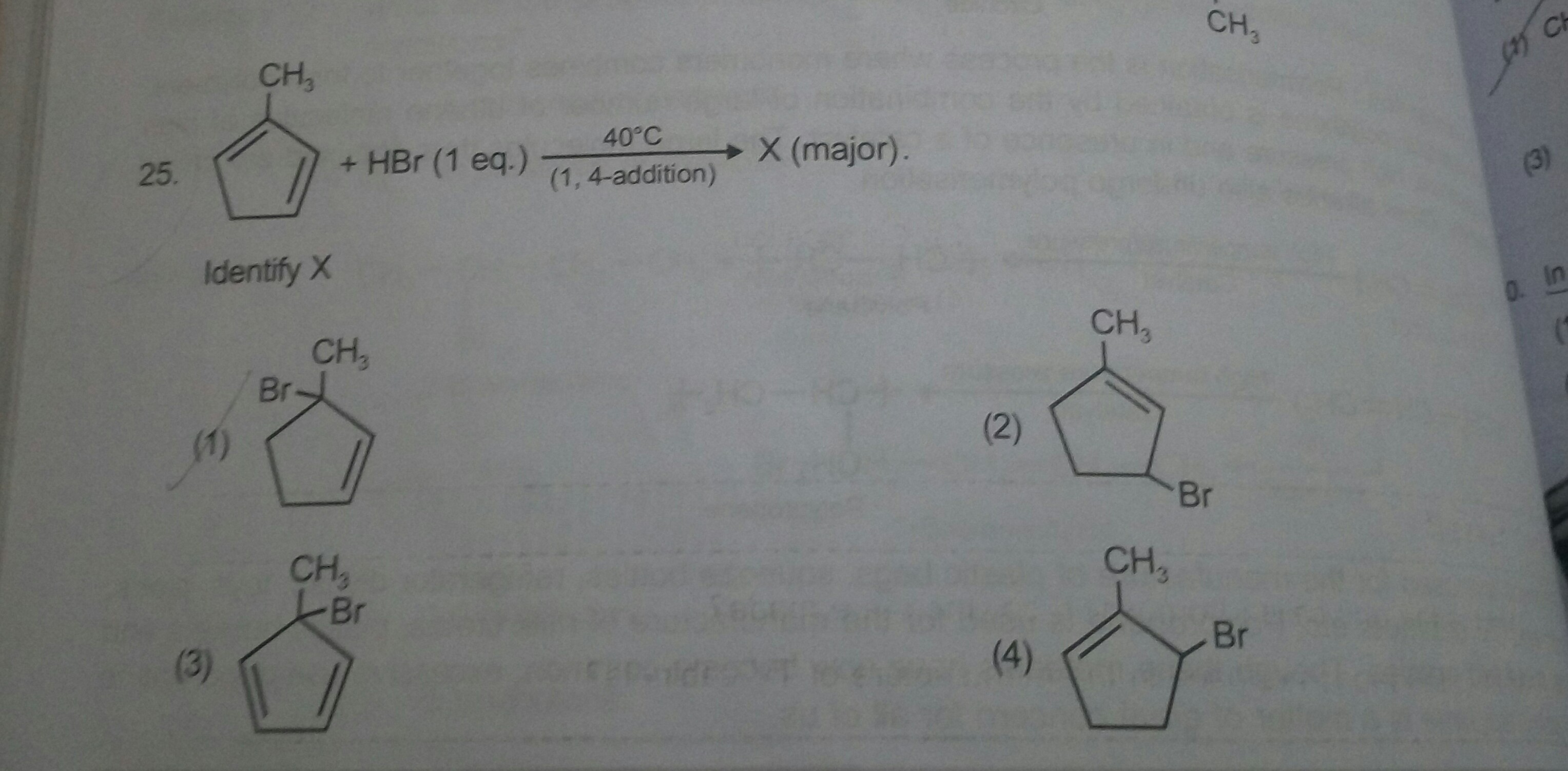 identify the major product in question no 25 . Please explain it.