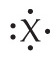 X with single dots above, below, and right, and a pair of dots left.