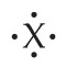 X with single dots above, below, left, and right.