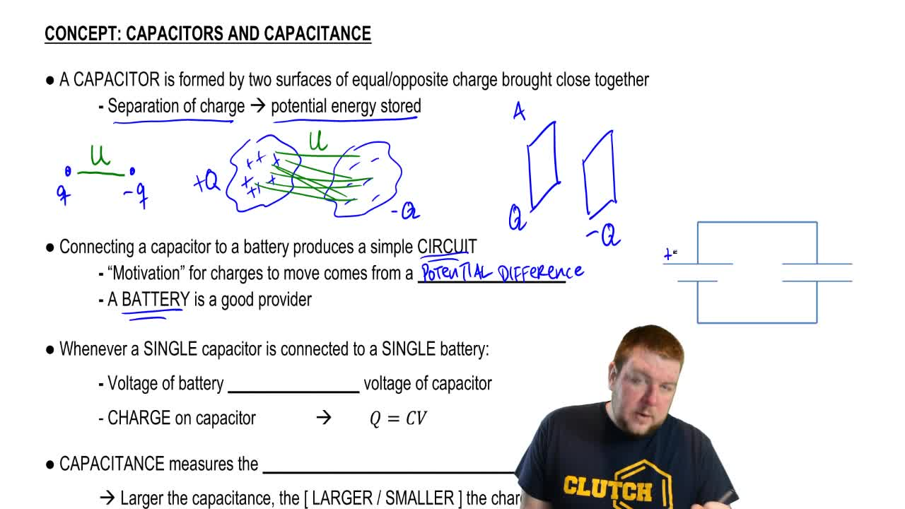 Capacitors Capacitance Physics Video Clutch Prep And Charge On A Plates