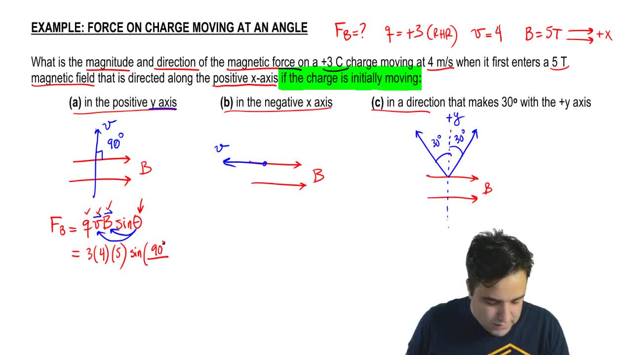Force on Moving Charges & Right Hand Rule - Physics | Clutch Prep