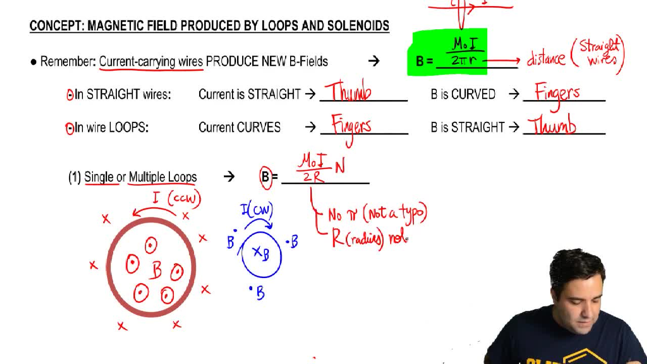Magnetic Field Produced by Loops and Solenoids - Physics | Clutch Prep