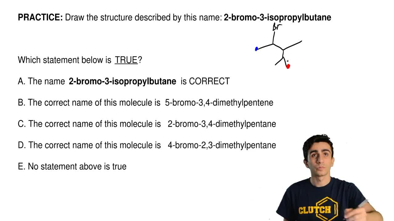 Draw the structure described by this name:  2-bromo-3-isopropylbutane...