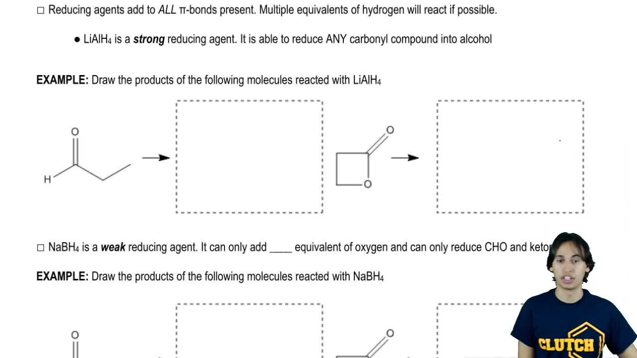 Reducing Agent Organic Chemistry Video Clutch Prep