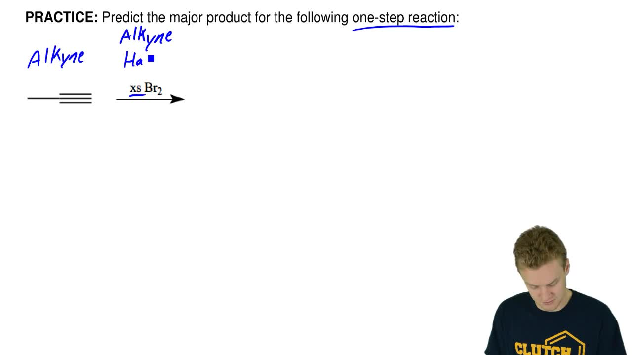 Predict the major product for the following one-step reaction:    ...