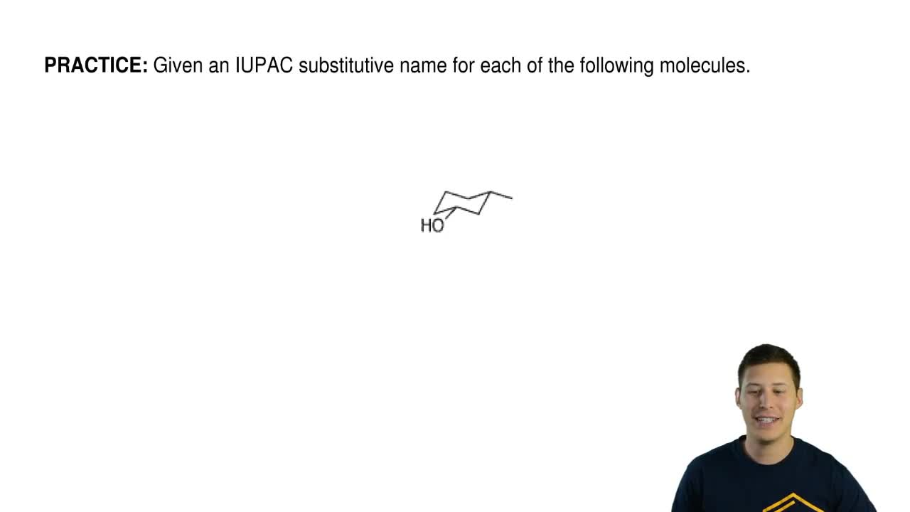 Given an IUPAC substitutive name for each of the following molecules. ...