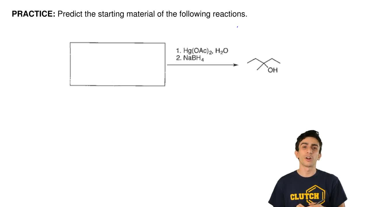 Predict the starting material of the following reactions. ...