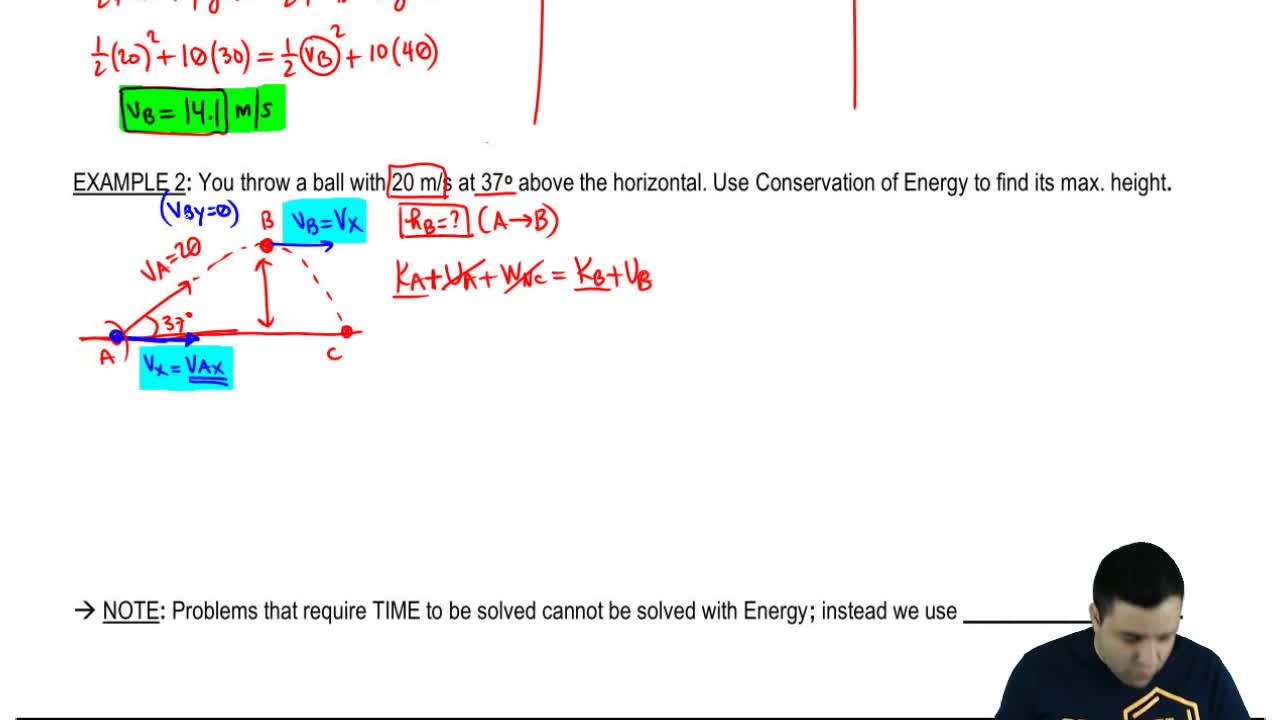 Solving Projectile Motion Using Energy Physics Video Clutch Prep