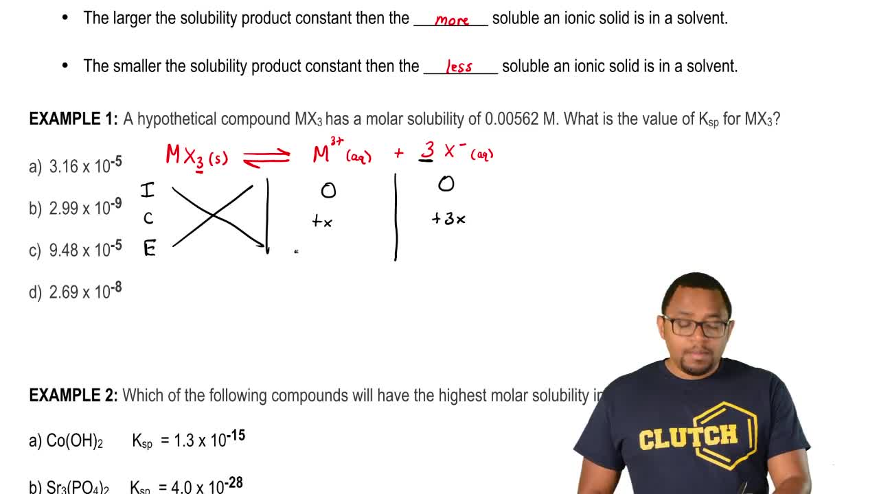 gen chem 2 solubility product constant Chemistry 201 review a study guide review by a former student kris bunce class of f2004 o ksp = solubility product.
