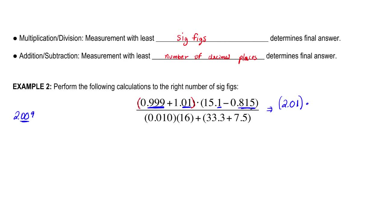 Significant Figures Analytical Chemistry Video Clutch Prep