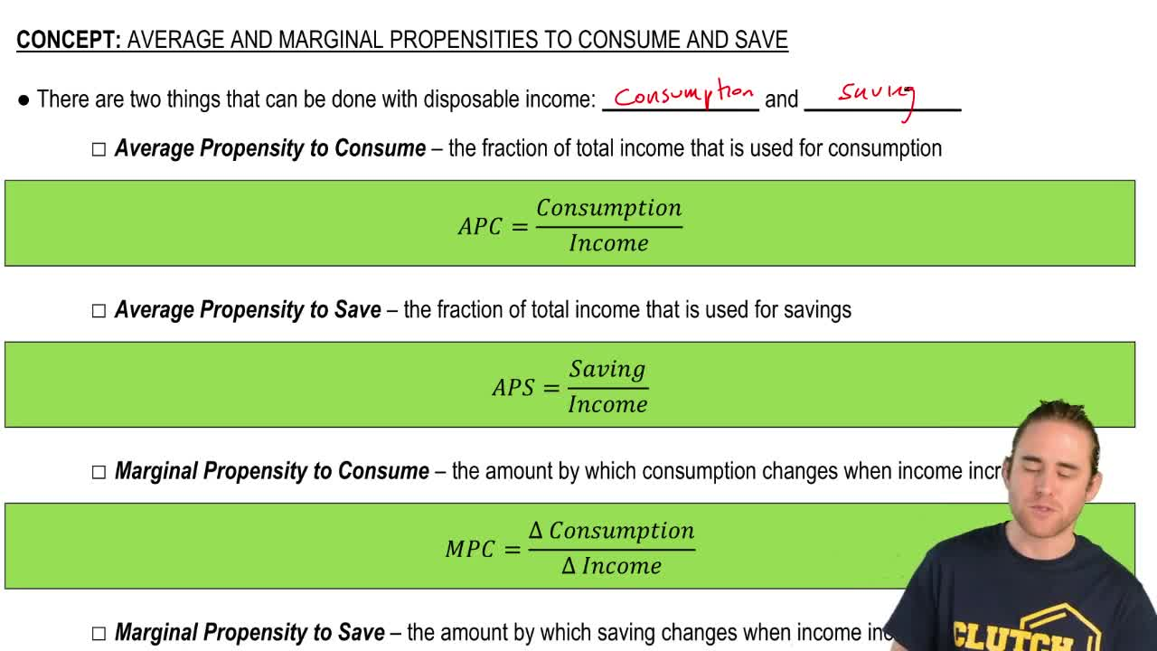 concept of consumption and saving