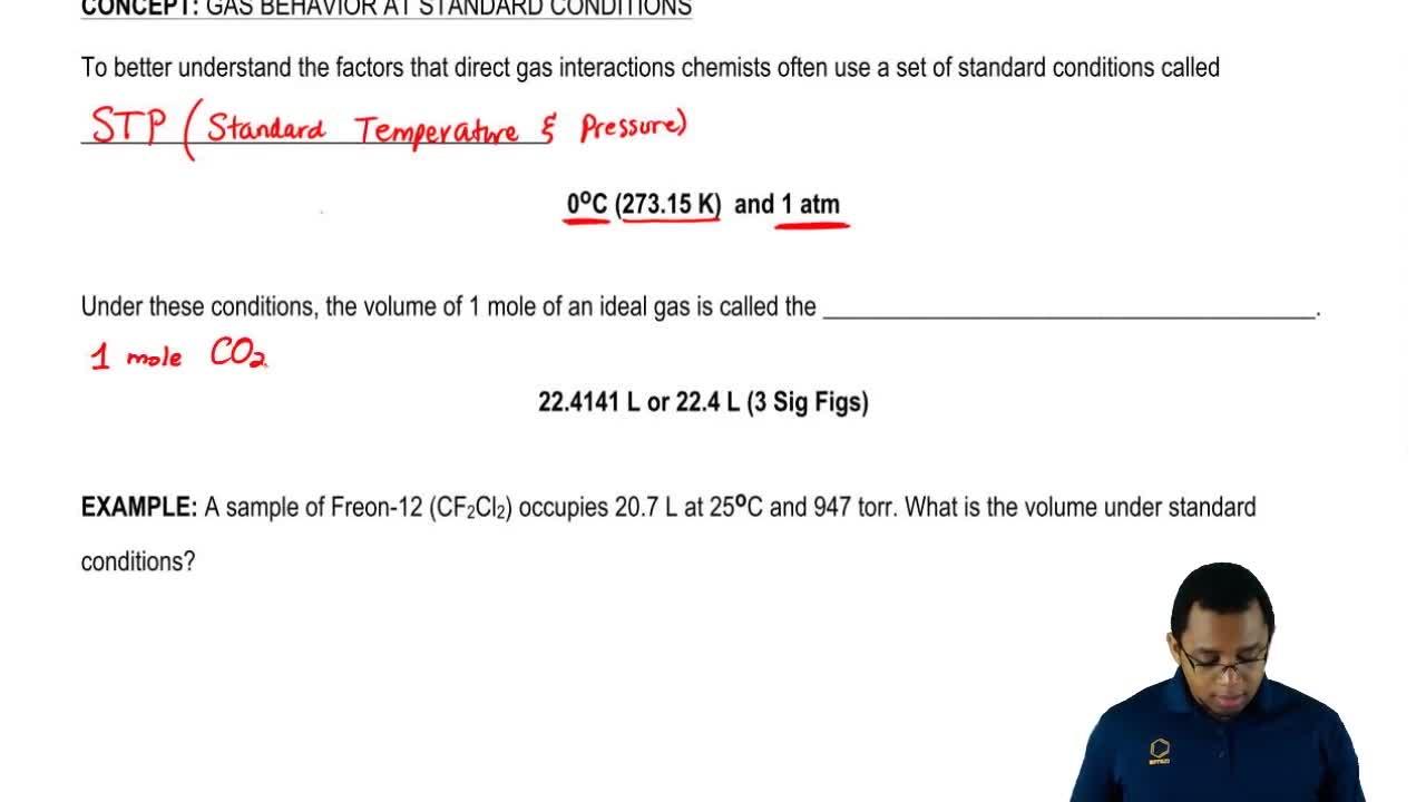 Standard Temperature And Pressure Chemistry Video Clutch Prep