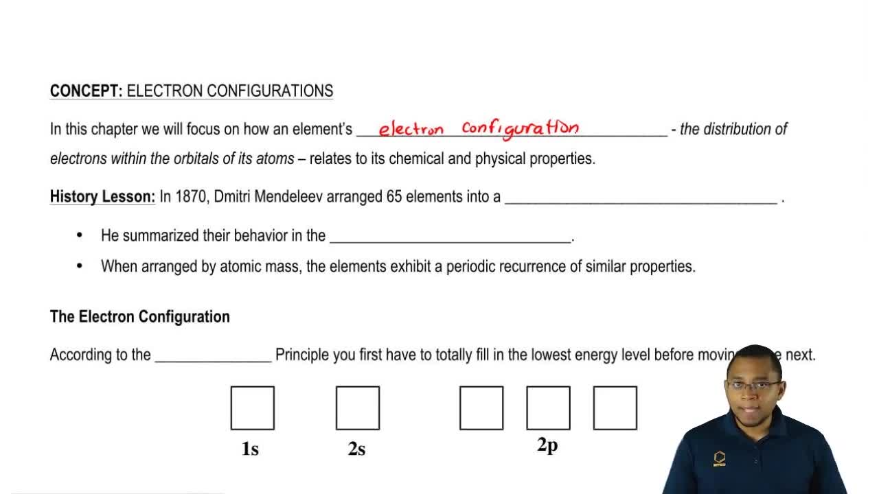 The electron configuration chemistry video clutch prep pooptronica Image collections