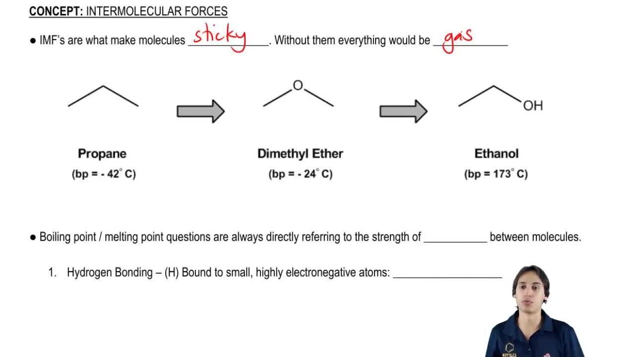 Intermolecular Forces Organic Chemistry Video Clutch Prep