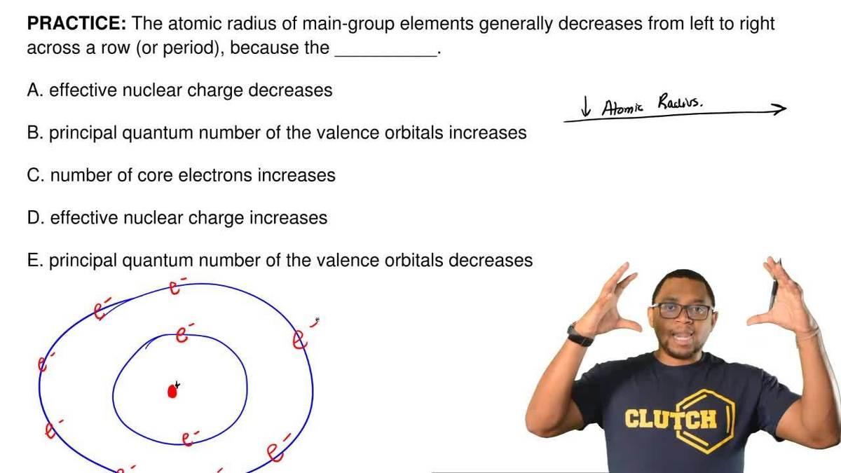 Answer the atomic radius of main group el clutch prep urtaz Gallery