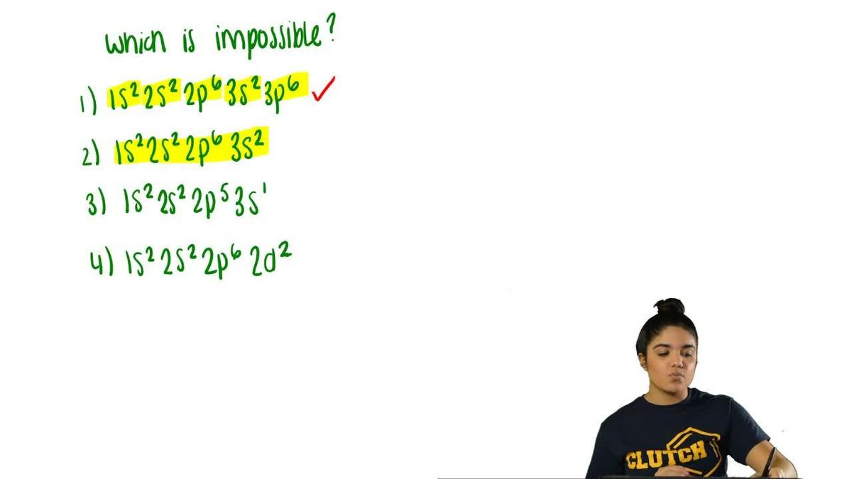 Which electron configuration is impossible clutch prep pooptronica