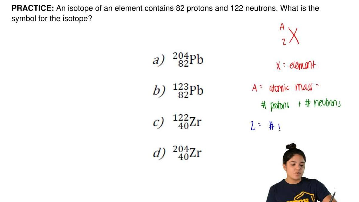 An isotope of an element contains 82 protons clutch prep buycottarizona Choice Image