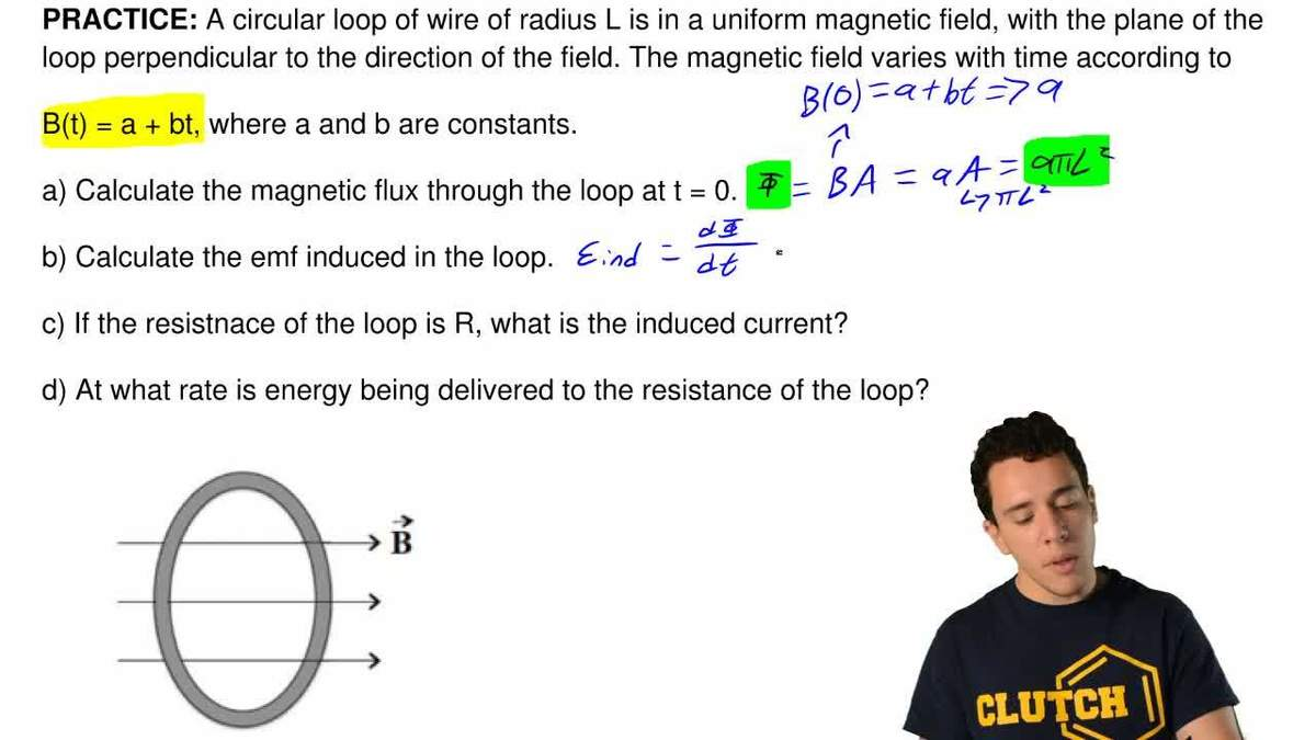 Answer: A circular loop of wire of radius ... | Clutch Prep