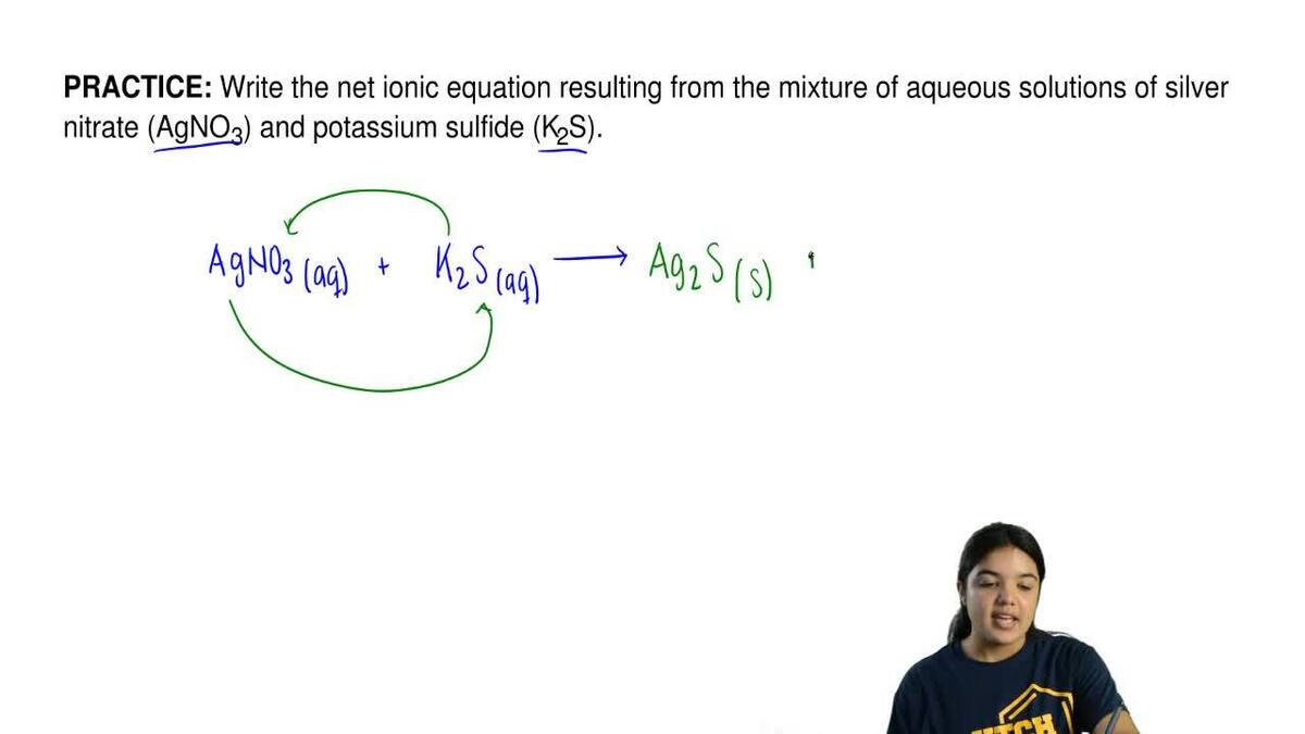 Solution Write The Net Ionic Equation Re Chemistry