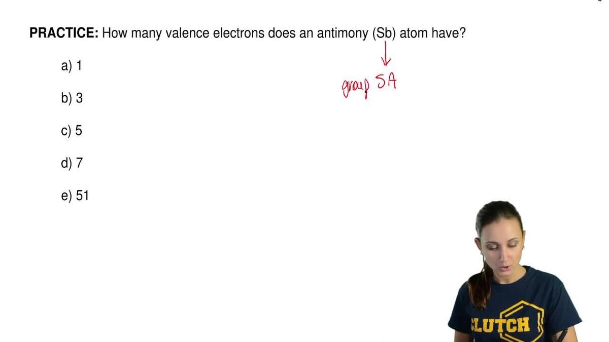 How many valence electrons does an antimony clutch prep pooptronica