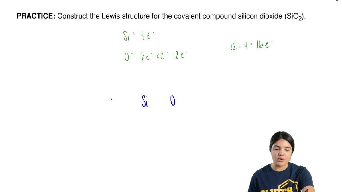 Construct the lewis structure for the covalen clutch prep pooptronica
