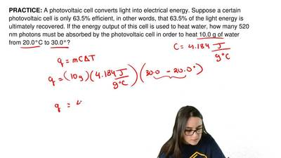 A photovoltaic cell converts light into electrical energy. Suppose a certain p...