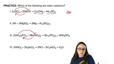 Which of the following are redox reactions?  I. CuSO4 + 2NaOH → Cu(OH) 2 + Na ...