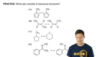 Which pair consists of resonance structures? ...
