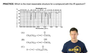 Which is the most reasonable structure for a compound with this IR spectrum? ...