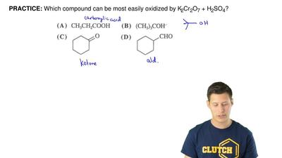 Which compound can be most easily oxidized by K2Cr2O7 + H2SO4? ...