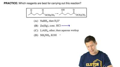 Which reagents are best for carrying out this reaction? ...