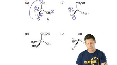 Which molecule has the R configuration? ...