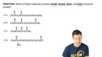 Which of these molecules contains amide, ketone, ether, and ester functional ...