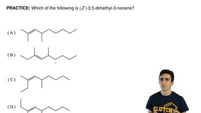 Which of the following is ( Z )-3,5-dimethyl-3-nonene?    ...