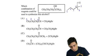Which combination of reagents could be used to synthesize this alcohol? ...