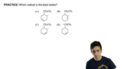 Which radical is the least stable? ...