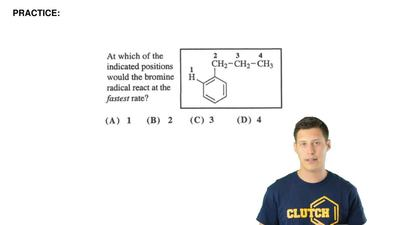 At which of the positions would the bromine radical react at the fastest rate?...