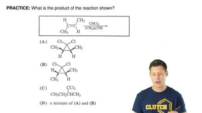 What is the product of the reaction shown? ...