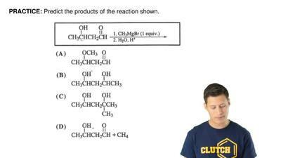 Predict the products of the reaction shown. ...
