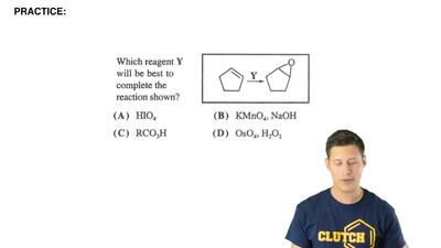 Which reagent Y will be best to complete the reaction shown?  (A) HIO4  (B) KM...