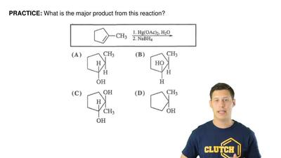 What is the major product from this reaction? ...