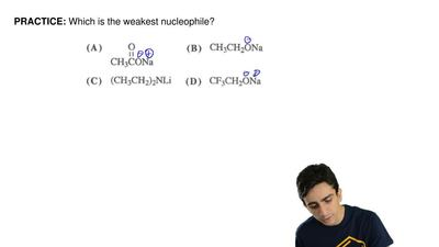 Which is the weakest nucleophile? ...