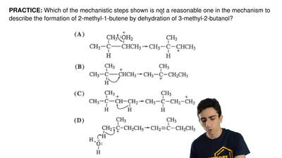 Which of the mechanistic steps shown is not a reasonable one in the mechanism ...